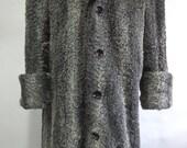 Refurbished New Gray Persian Lamb Astrakhan Mink fur Coat for Men Man size All Custom Made