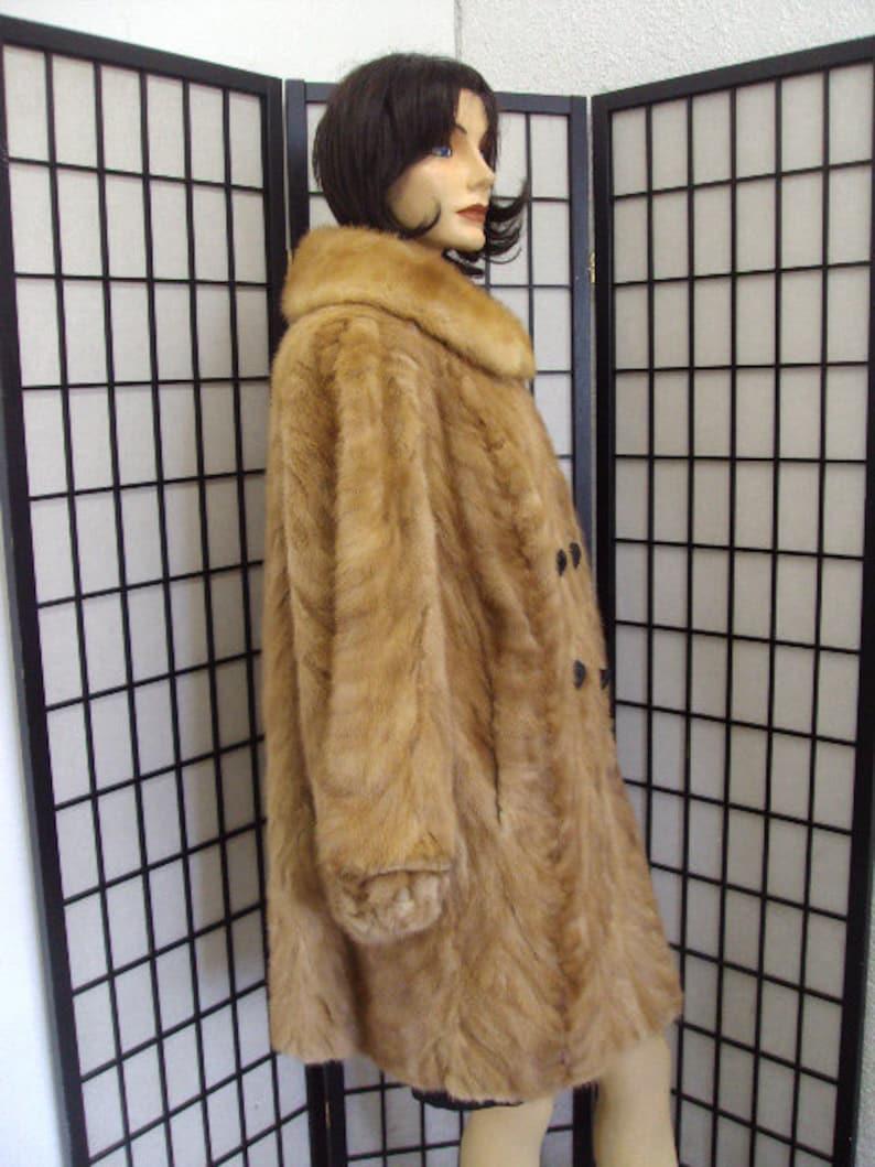 Excellent Canadian Pastel Mink Fur Jacket Coat Women Woman Size 10-12 M-L