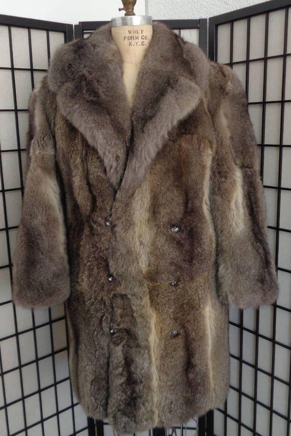 Ristrutturato nuovo opposum grigio pelliccia cappotto giacca  091d48d63e0
