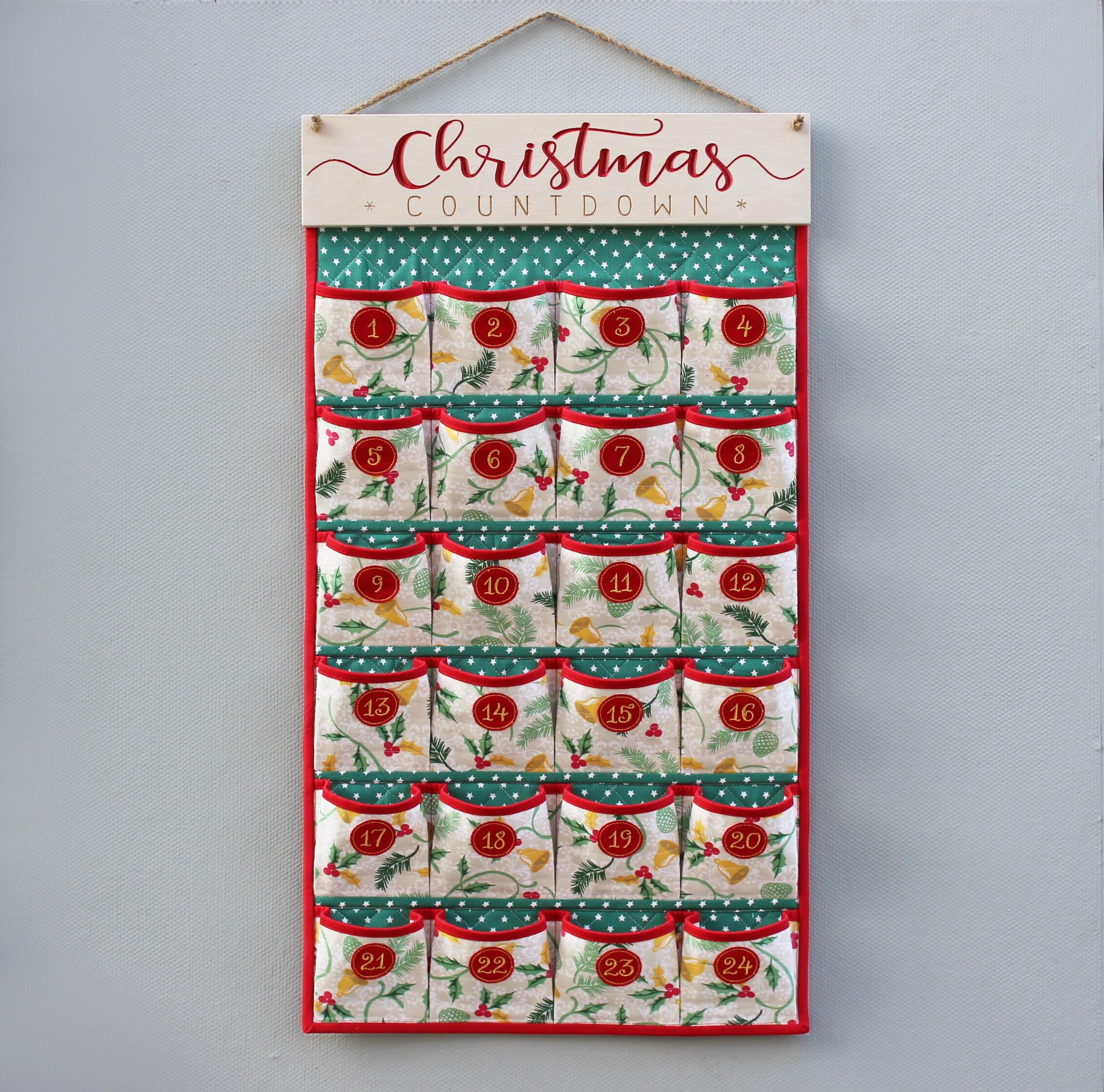 Stoff-Adventskalender Jingle Glocken Druck | Etsy