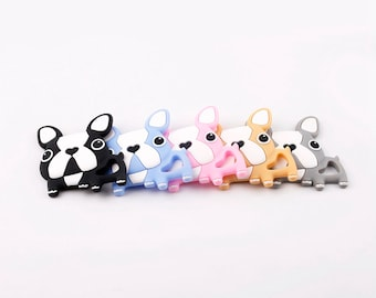 Frenchie Food Grade Silicone Teethers- 3 Colors!