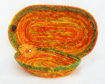 Orange and Green Oval Baskets