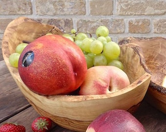 Fruit bowl oval olive wood approx. 25 – 30 cm / 9.8 – 11.8 inches