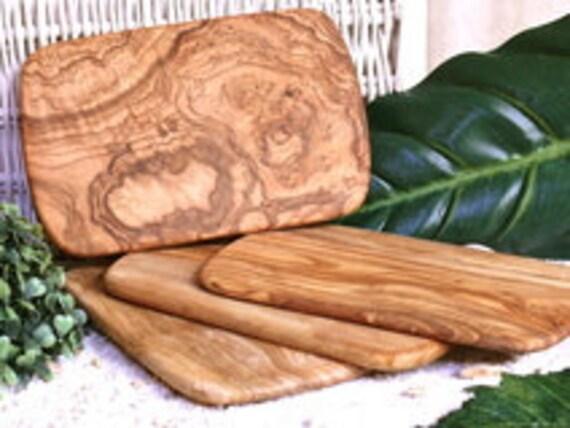 4 pcs. cutting board olive wood 22 x 14 cm / 8.6 x 5.5 inches