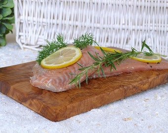 Plank Grilling on olive wood