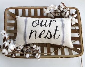Marvelous Our Nest Pillow Etsy Theyellowbook Wood Chair Design Ideas Theyellowbookinfo