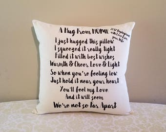 Missing You Gift Pillow Deployment Gifts Homesick For Deployed Boyfriend Husband Wife
