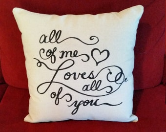 All of me loves all of you | John Legend song lyrics | Anniversary Gifts for Women | Cotton Anniversary Gift for Her | Gifts for Husband
