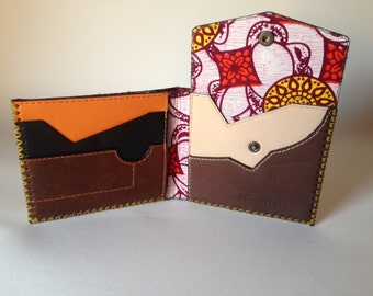 Leather wallet handmade