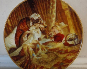 Vintage Little Red Riding Hood Limited Edition Plate by Scott Gustafson, Knowles China Co., 1991