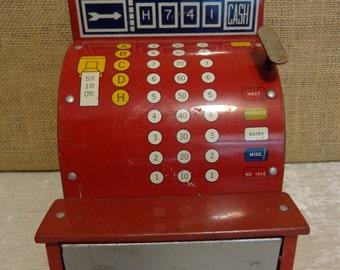 Vintage Tin Toy Cash Register, Vintage Toy Cash Register