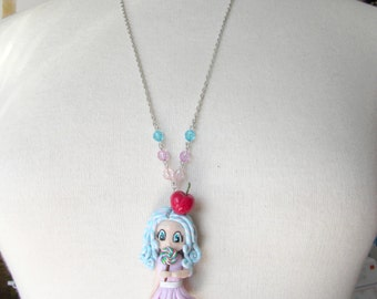 Necklace Sautoir Chibi Gourmande Kawaii Pastel polymer