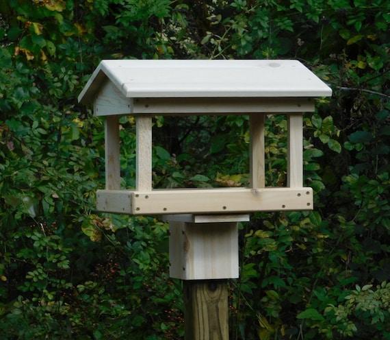 Cedar Fly Through Bird Feeder Post Mount Or Pole Mount