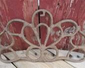 Cast Iron Decorative Panel, Architectural Salvage Piece, Vintage Register Grate, Decorative Grate, Cast Iron Grate, Metal Garden Art,