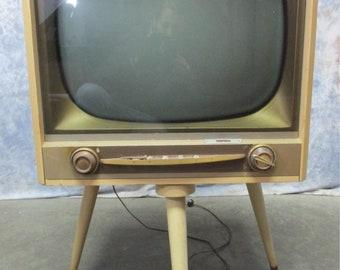 1950s philco tv television swivel stand mid century retro vintage electronics mid century tv retro television 1950s tv