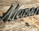 1975 Ford Mercury Monarch Script Emblem, D54B-6B114A Badge, Vintage Ford Sign, , Mancave Decor, Ford Mercury Monarch, Chrome Advertising Dec