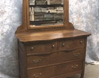 Antique Oak Eastlake Victorian Dresser with Mirror Antique   Etsy
