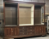 Antique Store Display Cabinet, Vintage Pharmacy Apothecary Cabinet, Bookcase, Vintage Showcase Shelving, Storage Cabinet, China Cabinet