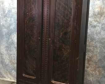 Vintage Wooden Wardrobe Armoire Storage Closet Cabinet Bedroom Furniture  Clothes, Vintage Wardrobe, Clothes Closet, Vintage Armoire