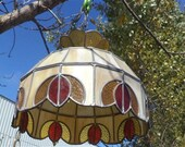Swag Stained Slag Glass Hanging Chandelier Light Lamp Tiffany Style e , Tiffany Styled Lamp, Stained Glass Lamp