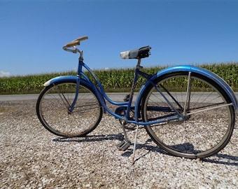 cafabda641f 1958 Chicago Schwinn American Bike Bicycle Womens Blue Serial# J818639, Mid  Century Bike, Vintage Bicycle, Womens Bike