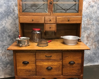 Hoosier Kitchen Cabinet, Kitchen Storage Kitchen Hutch, Wooden Kitchen  Cupboard, Kitchen Cabinet, Sellers Cabinet, Vintage Wood Cabinet
