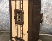 Large Art Deco Siegler Porcelain Stove Heater, Oil Heater Oil Burning Furnace, Farmhouse Stove, Enamel Stove, Vintage Heater, Vintage Stove