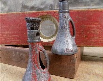 Lot Of 4 Replacement Part Vintage Simplex Screw Railroad Jack Salesman's Sample