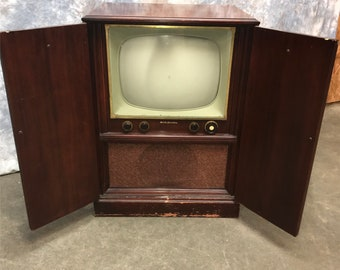 Delicieux 1951 RCA Victor TV Television, Model 7T123, Mid Century Retro Television  Console, TV Console Cabinet, Floor Model Tv, Mid Century Tv