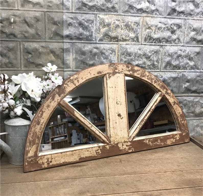 Architectural Salvage Arched Window Frame Mirror Rustic Etsy