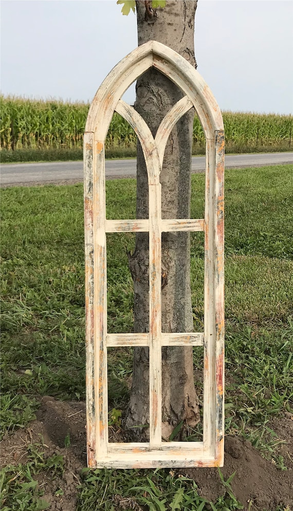Farmhouse Arched Window Frame Gothic Window Frame Faux | Etsy