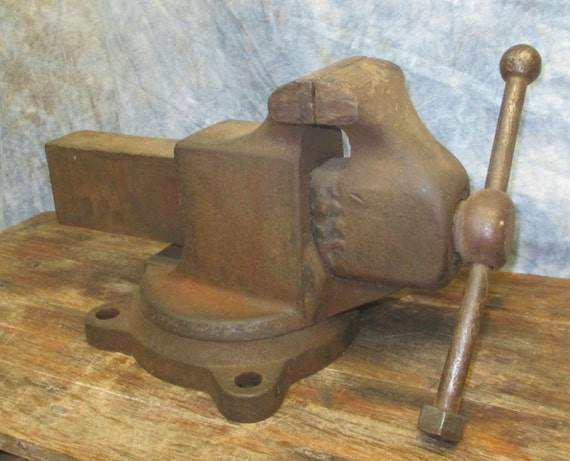 4 Jaw Swivel Bench Table Swivel Vise Blacksmith Anvil Vintage | Etsy