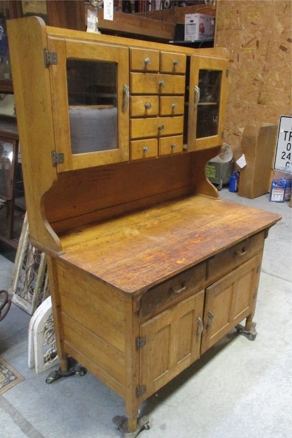 image 0 - Hoosier Style Bakers Cabinet Cupboard Pantry Hutch Storage Etsy
