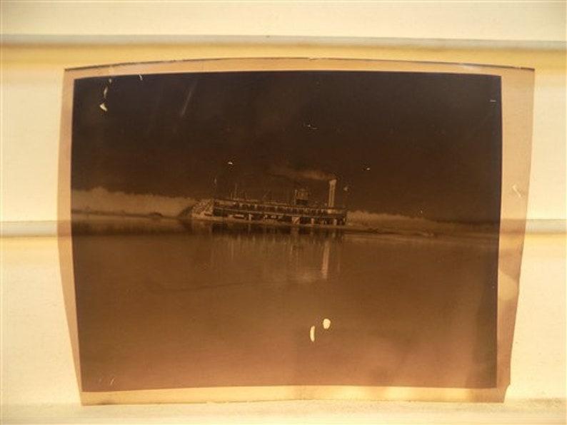 Antique Photos 4 Plastic Negative Slides Antique Photo Photographs Mississippi River Steamboat Plastic Negatives Vintage Photography