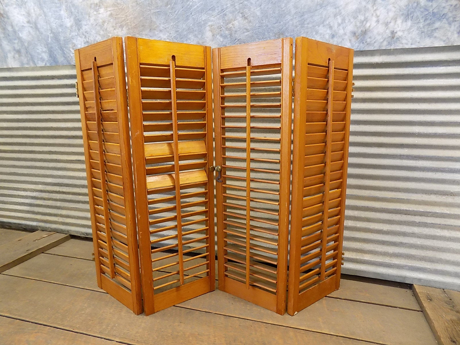 Lot Wood Shutters Victorian Window Louver Plantation Door Mission Vintage A32 Wood Shutters Vintage Shutters Architectural Salvage