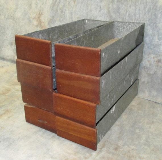 8 Holz Metall Schubladen Organizer Schutten Kunsthandwerk Etsy