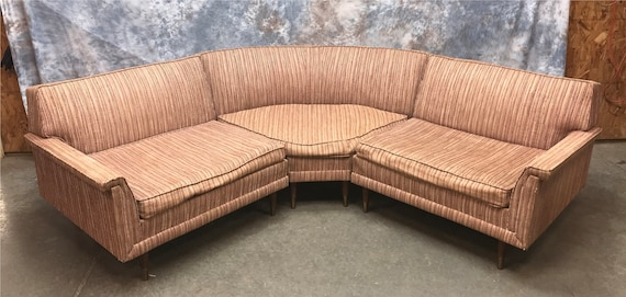 Kroehler Sectional Sofa, Mid Century Modern Couch, 3 Piece Retro Sofa  Couch, Sectional Sofa Couch, Vintage Couch, Vintage Sofa Furniture