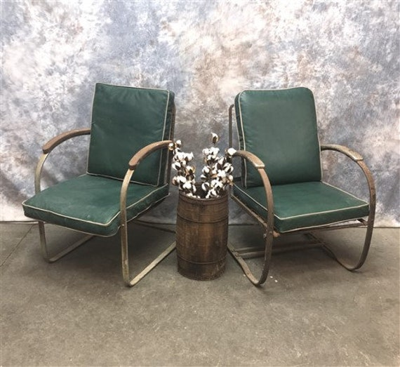 Amazing Pair Mid Century Modern Vinyl Chairs Outdoor Patio Chairs Industrial Arm Chair Lounge Chairs Office Arm Chairs Green Danish Chairs Home Interior And Landscaping Dextoversignezvosmurscom