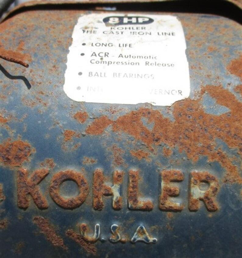 Bolens 8HP Garden Tractor, Vintage Cultivator, Kohler Cast Iron Line K181,  Vintage Garden Tractor, Cultivator, Vintage Bolens