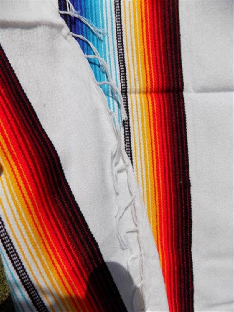 84 x 60 Saltillo Serape Southwestern Blanket Indian Mexican Rug Throw Blanket e Saltillo Blanket Southwest Fringe Blanket Throw