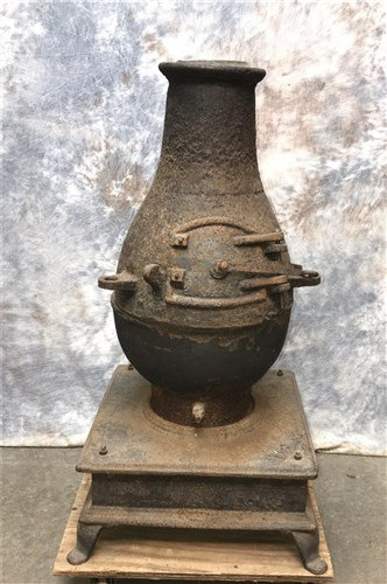 Excellent Industrial Cast Iron Chiminea Outdoor Fireplace Wood Burning Chiminea Fire Pit Home Interior And Landscaping Ologienasavecom