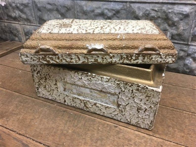 Vintage Salesman Sample Funeral Burial Vault, Display Funeral Home Mortuary  g, Funeral Home Casket Coffin Vault, Oddity