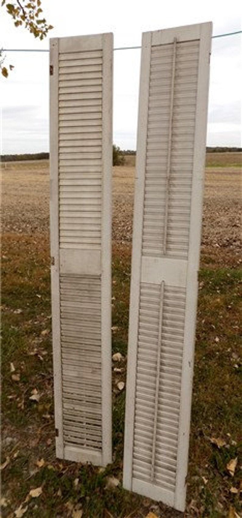 Wood Shutters Lot Victorian Window Louver Plantation Door Mission Vintage A49 Shutters Wall Decor Farmhouse Decor Vintage