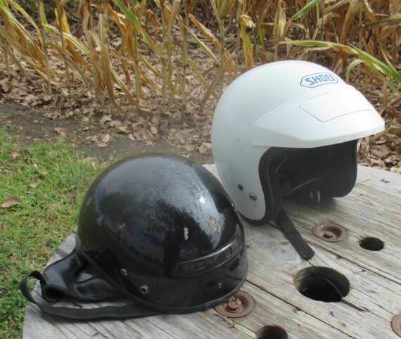 Lot de Vintage 2 casques protection neige Mobile moto casque Vintage de Head Gear chaussure je 142520