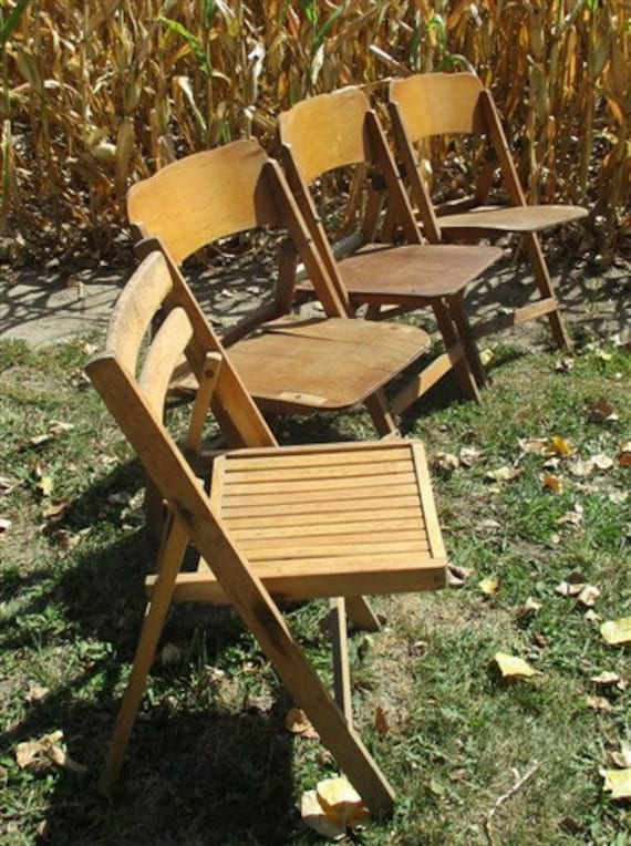 Wood Folding Chairs Slatted Chairs Set of 4 Wood Folding Chairs Church Funeral Wedding Concert Patio Picnic a32 Theater Chairs