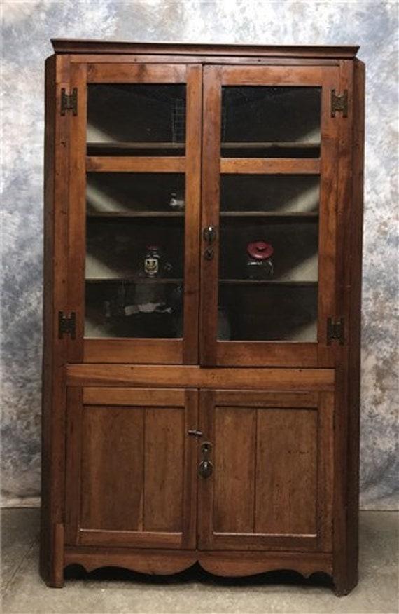Vintage Corner Cabinet With Doors, Kitchen Hutch Cabinet, Corner Hutch  Cupboard , Kitchen Corner Cabinet, Storage Cabinet China Cabinet Hutc