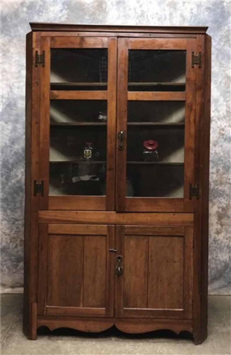 Vintage Corner Cabinet With Doors Kitchen Hutch Cabinet Corner Hutch Cupboard Kitchen Corner Cabinet Storage Cabinet China Cabinet Hutc