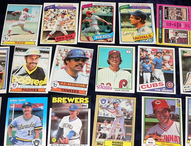 1970s 80s Mega Lot Baseball Card Starter Collection 90 Superstar Cards