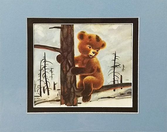 1976 Smokey Bear Matted Vintage 11x14 Print