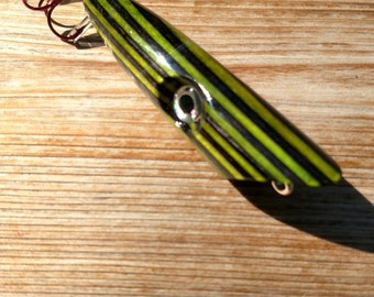 Wooden Fishing Lure / Colored Wood Surface Popper / handmade